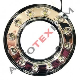 Фонарь габаритный передний 6310.3731-01 (24В) LED белый (кольцо) линза