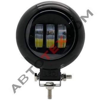 Фара противотуманная 30W-CIR-BLACK (30W) LED 3 диода (ан.MMRY-T6-H)