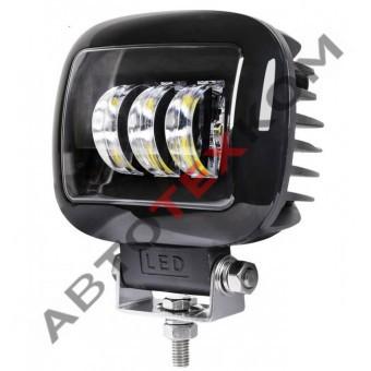 Фара противотуманная 30W-SQ-BLACK (30W) LED 3 диода (ан.MMRF-T6-H)