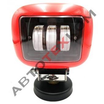 Фара противотуманная 30W-SQ-RED (30W) LED 3 диода
