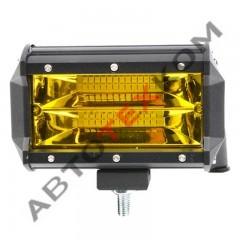 Фара противотуманная А31-72-S-D-Y (72Вт) LED 24 диода (ближний свет) желтый