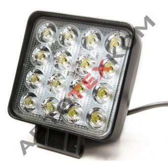 Фара противотуманная 48S-SQ (9-32В) LED 16 диодов квадрат. (ан.ТАС-16)