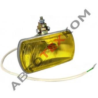 Фара противотуманная TH-105-03 (б/л) желтая (с крышкой)