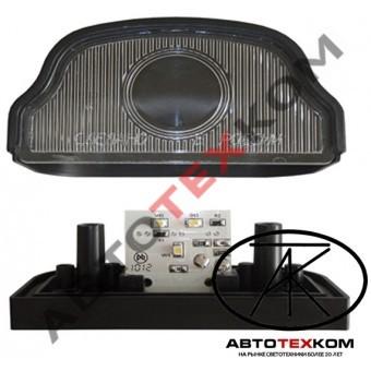 Подсветка номера ПН-2 (12/24В) LED черный (линза)