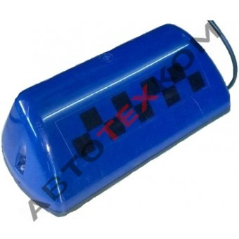 Фонарь ТАКСИ АТК-6М-03 синий (шашка)