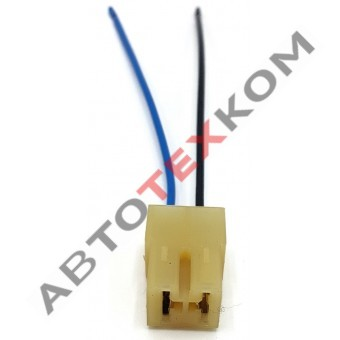 Разъем гнездовой 2-х контактн. 457373 9003 - 2 провода (S-0,75мм) в сборе