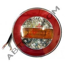 Фонарь задний круглый YP-158 (12/24В) LED 4 функции