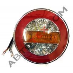 Фонарь задний круглый YP-158 (24В) LED 4 функции