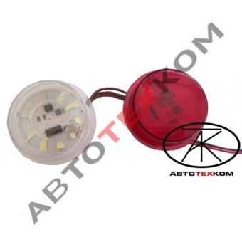 Оптический элемент в рога  БФ-001 (12/24В) 10 диодов LED БЕГУЩИЙ ОГОНЬ