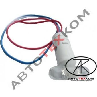 Патрон ГФ светодиодный в рога (белый-белый) LED