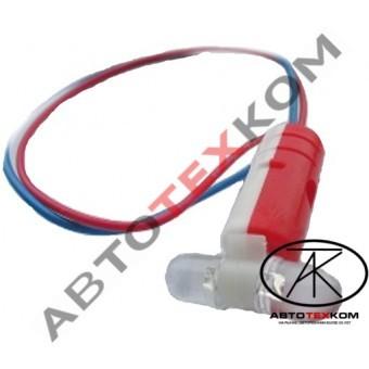 Патрон ГФ светодиодный в рога (красно-белый) LED