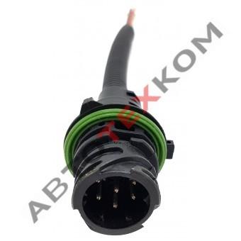 Провод с разъемом АМР прямой ТАС-680082 (7конт.)  20см.
