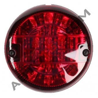 Фонарь задний круглый M720106 (24В) LED гамбургер (красный) ан.0021/T-045