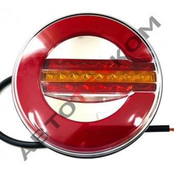 Фонарь задний 015-01 (12/24В) Неон LED с бегущим сигналом поворота (ан.WAS 1129 DD серия W153)