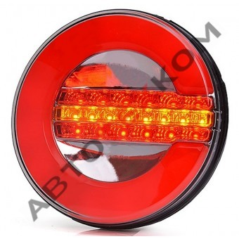 Фонарь задний 015-00 (12/24В) Неон LED с сигналом поворота (ан.WAS 1128 серия W153)