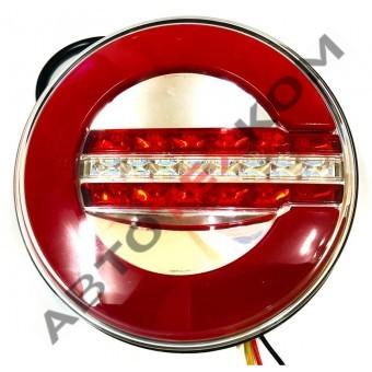 Фонарь задний 015-02 (12/24В) Неон LED с задним ходом (ан.WAS 1130 12F серия W154)