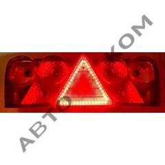 Фонарь задний 024 SCHMITZ правый (белый поворотник) с диодным треугольником LED