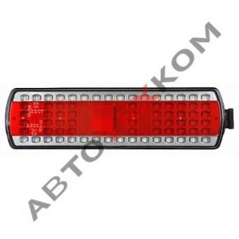 Фонарь задний 112.08.69-01 (24В) LED левый (с боковым AMP разъёмом) КАМАЗ 5490