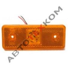 Фонарь габаритный YP-23 (12/24В) жёлтый LED