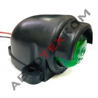 Фонарь габаритный ГФ 3.19 LED-05 (12/24В) зеленый (козырек)