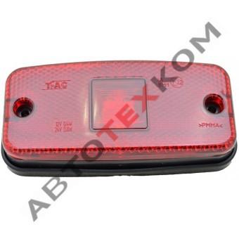Фонарь габаритный маркерный 010.3731 (12/24В) красный LED