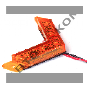 Фонарь маркерный 164.3731-00 (12/24В) жёлтый LED 5 диодов (стрелка маленькая)