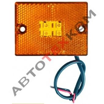 Фонарь маркерный 70.3731-00 (12/24В) желтый LED