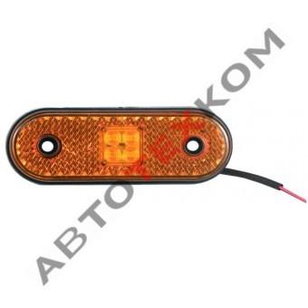 Фонарь маркерный боковой 100.3731-00 (12/24В) желтый LED
