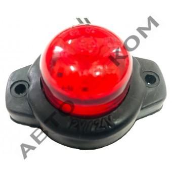 Фонарь габаритный ГФ 3.18 LED-02 (12/24В) красный (шайба)