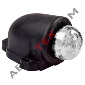Фонарь габаритный ГФ 3.19 LED-01 (12/24В) белый (козырек)
