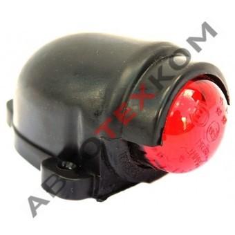 Фонарь габаритный ГФ 3.19 LED-02 (12/24В) красный (козырек)