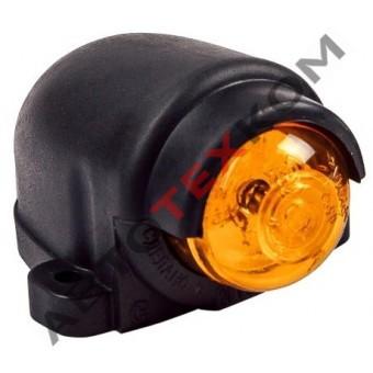 Фонарь габаритный ГФ 3.19 LED-03 (12/24В) желтый (козырек)