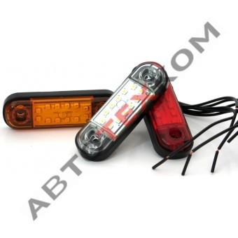 Фонарь габаритный 014.3731-20 (12/24) белый LED 12 диодов