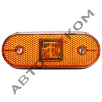 Фонарь габаритный 150.3731-00 LED желтый (под фишку)