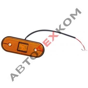 Фонарь габаритный 151.3731-00 LED желтый (с проводом)