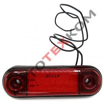 Фонарь габаритный ОГ-40 (12/24) красный LED 3 диода (ан.77-02)