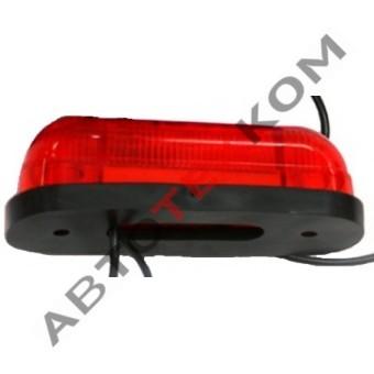 Фонарь габаритный 78-02 (12/24В) красный LED 3 диода (ан.ОГ-42)