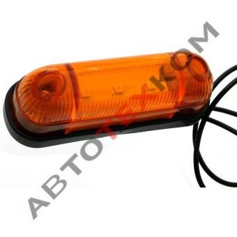 Фонарь габаритный 78-03 (12/24В) желтый LED 3 диода (ан.ОГ-42)