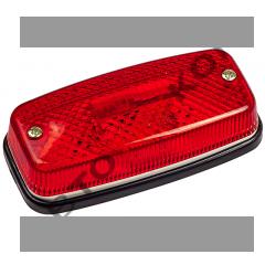 Фонарь габаритный ЕС-04 (12/24В) красный LED с прокладкой