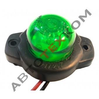 Фонарь габаритный ГФ 3.18 LED-05 (12/24В) зеленый (шайба)