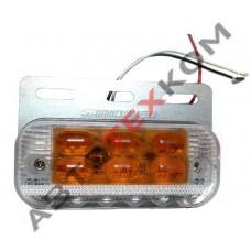 Фонарь габаритный HD-15 (24В) LED с подсветкой колеса (линза)