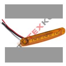 Фонарь габаритный S-006 (12/24) LED желтый (ан.YP-117)