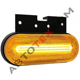 Фонарь габаритный 154.3731-00-01 желтый LED с неоновым светом (с кронштейном)  ан. FT-070 Z+K