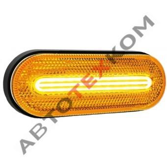 Фонарь габаритный 154.3731-00 желтый LED с неоновым светом  (ан. FT-070 Z)