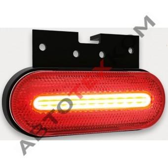 Фонарь габаритный 154.3731-02-01 красный LED с неоновым светом (с кронштейном)  ан. FT-070 C+K