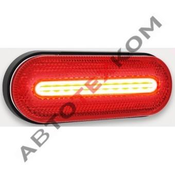 Фонарь габаритный 154.3731-02 красный LED с неоновым светом (ан. FT-070 C)