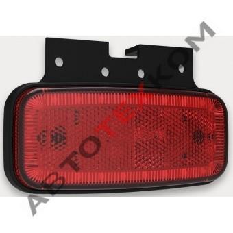 Фонарь габаритный 156.3731-02-01 красный 24 диода (с кронштейном)  ан. FT-075 C+K LED