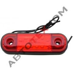 Огонь габаритный 014.3731-36 (12/24) красный LED 12 диодов