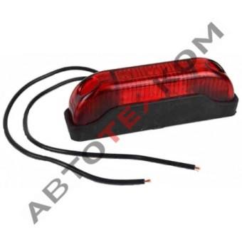 Огонь габаритный ОГ-41 (12/24В) красный LED