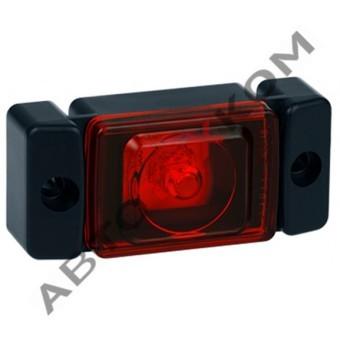 Огонь габаритный 61.3731-02 (12/24В) красный LED (ан.ОГ-45) кубик